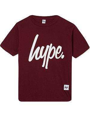 HYPE Script logo crew t-shirt 7-8 years