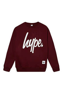 HYPE Script logo crew neck sweater 7-8 years