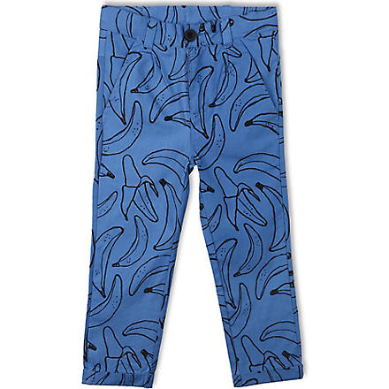 INDIKIDUAL Cotton banana print trousers 2-7 years (Blue
