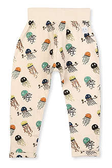 INDIKIDUAL Jellyfish print cotton harem trousers