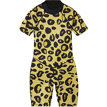 SALTSKIN Shorty leopard wetsuit 2-12 years (Leopard
