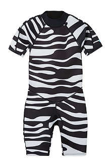 SALTSKIN Shorty zebra wetsuit 2-12 years