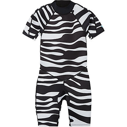 SALTSKIN Shorty zebra wetsuit 2-12 years (Zebra