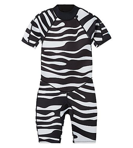 SALTSKIN Shorty zebra wetsuit 2-12 years (Zebra