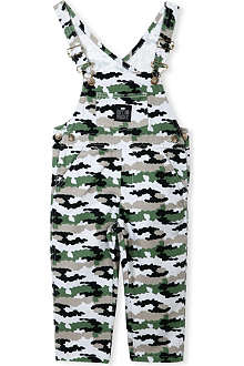 RUFF AND HUDDLE Cotton army dungarees 2-11 years