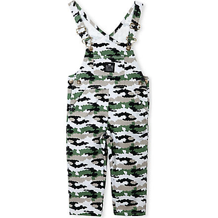 RUFF AND HUDDLE Cotton army dungarees 2-11 years (Camo