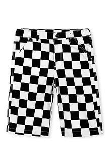 RUFF AND HUDDLE Checkerboard cotton shorts 2-11 years