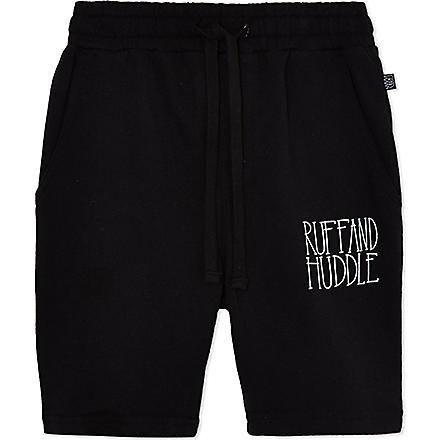 RUFF AND HUDDLE Rude Boy sweatshorts 2-11 years (Black