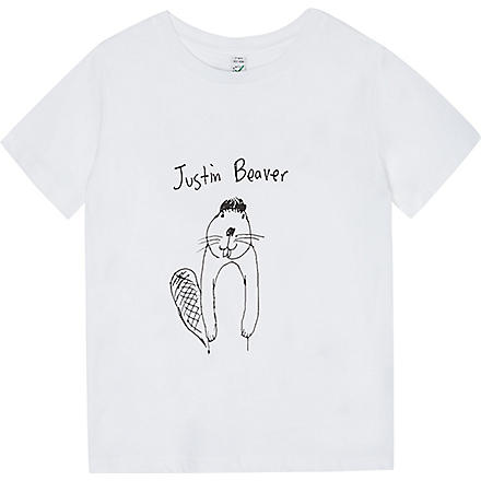 BLACK SCORE Justin Biever t-shirt 2-12 years (White