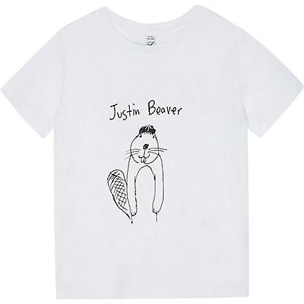 BLACK SCORE Justin Beaver t-shirt 2-12 years (White