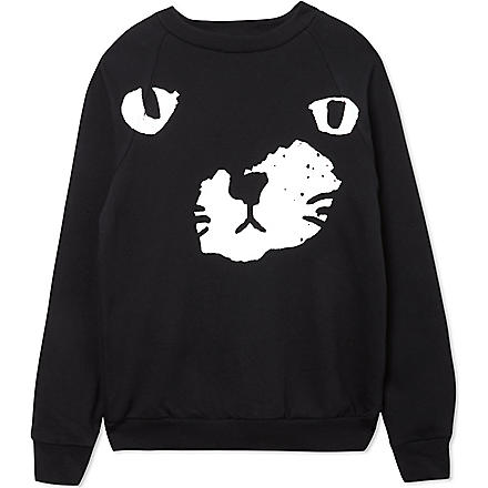 BLACK SCORE Black paw sweatshirt 2-12 years (Black