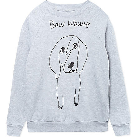 BLACK SCORE Bow Wowie sweatshirt 2-12 years (Grey