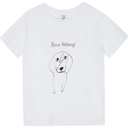BLACK SCORE Bow Wowie t-shirt 0-18 months (White