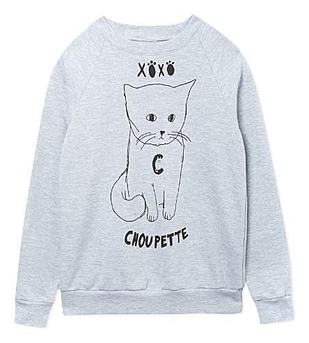 BLACK SCORE Choupette sweatshirt 2-12 years (Grey