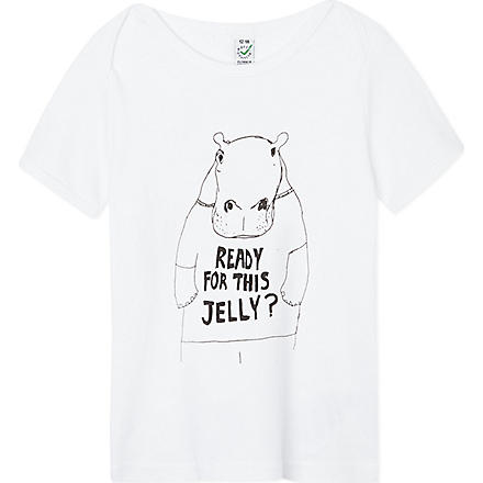 BLACK SCORE Hippo jelly t-shirt 3-12 years (White