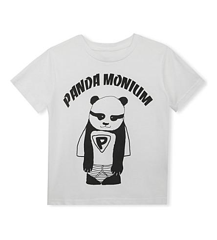 BLACK SCORE Panda Monium cotton t-shirt 3-12 years (White