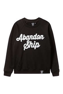 ABANDON SHIP Script appliqué sweatshirt 3-14 years