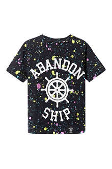 ABANDON SHIP Splatter print logo t-shirt 3-14 years