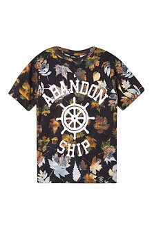 ABANDON SHIP Leaf print t-shirt 3-14 years