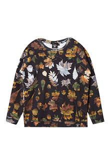 ABANDON SHIP Leaf print crew neck sweatshirt 3-14 years
