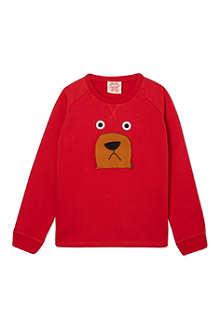 TOOTSA MACGINTY Bear zip nose sweatshirt 2-8 years