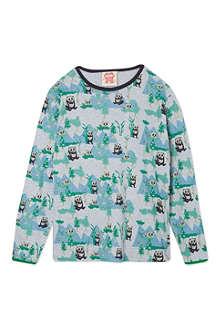 TOOTSA MACGINTY Panda print t-shirt 2-8 years