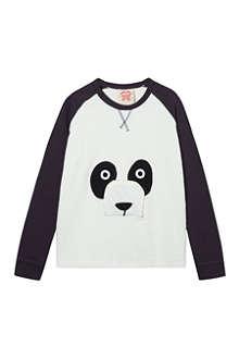 TOOTSA MACGINTY Panda zip nose sweatshirt 2-8 years