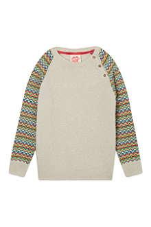 TOOTSA MACGINTY Neon Fairisle sleeved jumper 2-8 years