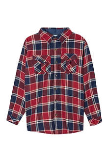 MINI A TURE Brushed cotton check shirt 2-8 ears