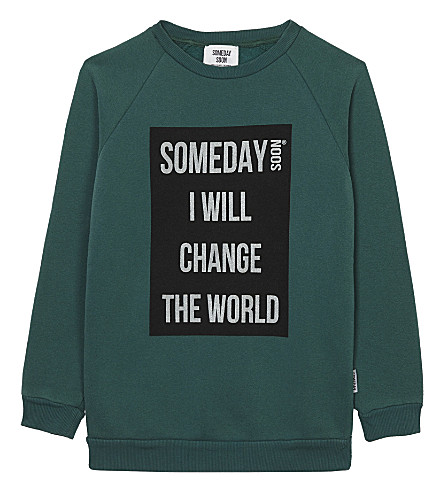 SOMEDAY SOON Ivan cotton jumper 4-14 years (Green