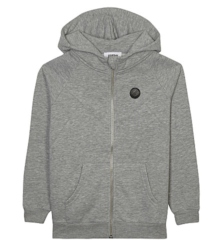 SOMEDAY SOON Pelle cotton hoodie 4-14 years (Grey+melange