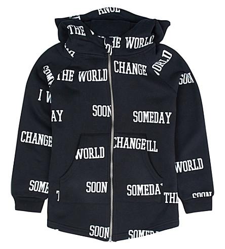 SOMEDAY SOON World cotton hoodie 4-14 years (Black