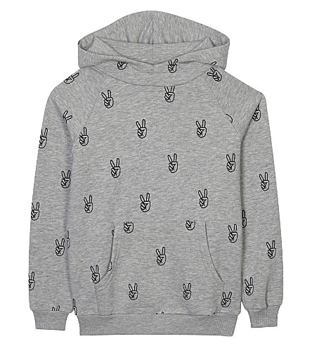 SOMEDAY SOON Power cotton hoodie 4-14 years (Grey+melange
