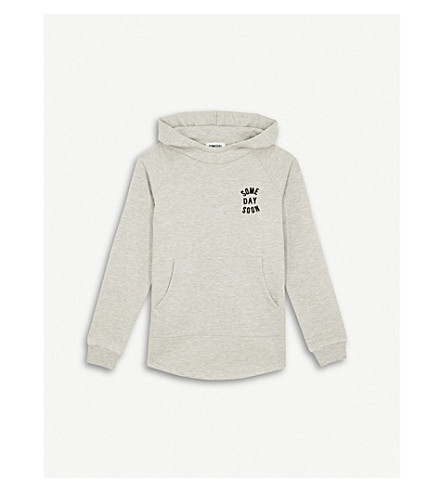 SOMETIME SOON Monterey logo cotton-blend hoody 4-14 years (Grey