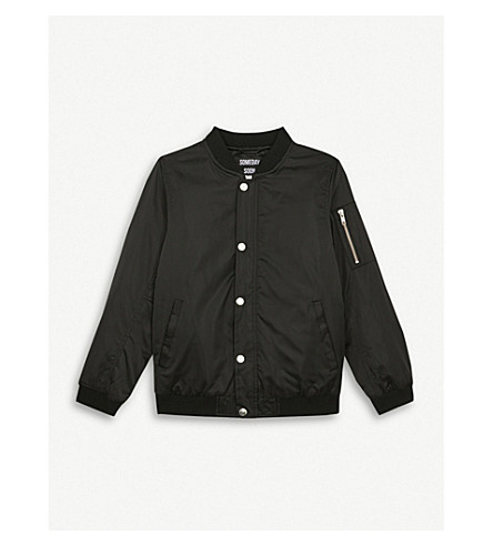 SOMETIME SOON Callum bomber jacket 4-14 years (Black