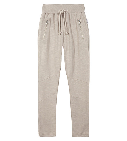 SOMEDAY SOON Anton cotton tracksuit bottoms 4-14 years (Brown