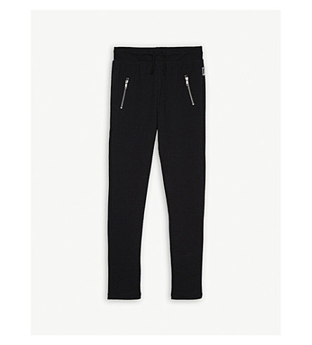 SOMEDAY SOON Anton textured tracksuit bottoms 4-14 years (Black