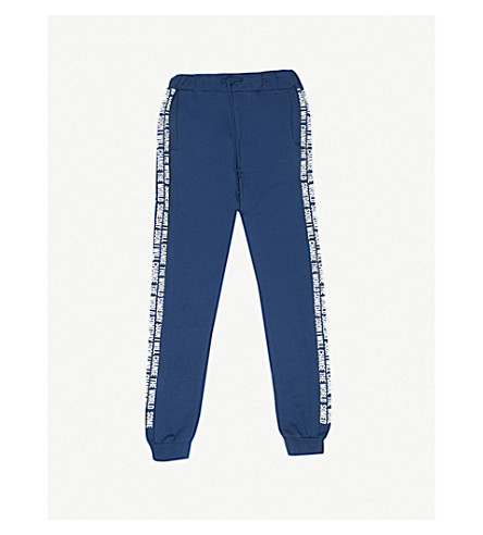 SOMEDAY SOON Mateo cotton-blend jogging bottoms 4-14 years (Blue