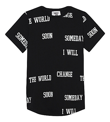 SOMETIME SOON Orbit cotton T-shirt 4-14 years (Black