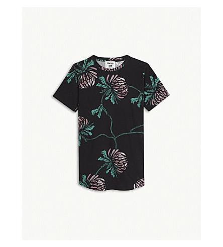 SOMEDAY SOON Loui thistle print cotton T-shirt 4-14 years (Black
