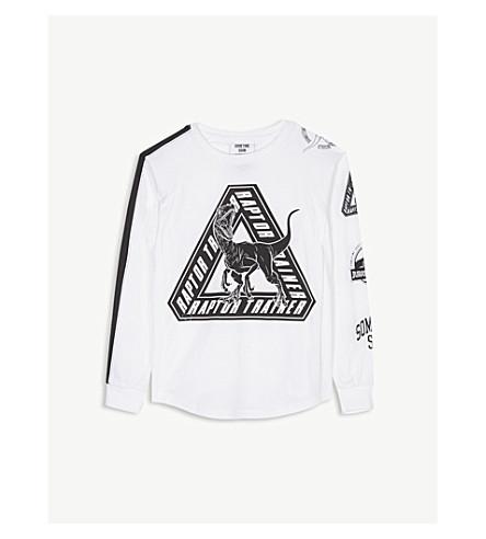 SOMETIME SOONJURASSIC WORLD 猛禽棉 T 恤 4-14 岁 (白色