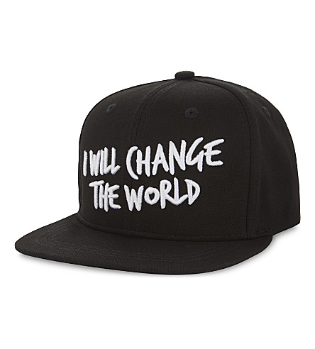 SOMEDAY SOON 'I will change the world' cotton snapback (Black