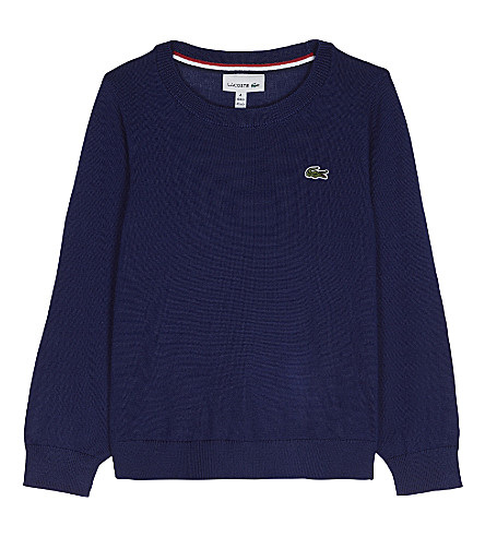 LACOSTE Knitted crew neck jumper 4-16 years (Methylene