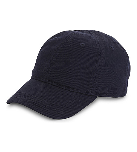 LACOSTE Embroidered logo cap (Navy+blue