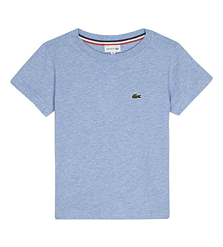 LACOSTE Cotton logo T-shirt 4-16 years (Cloudy+blue+chine
