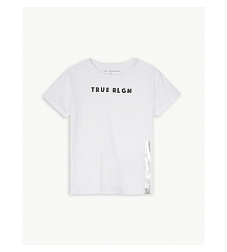 TRUE RELIGION Logo-print cotton T-shirt 4 – 6 years (White