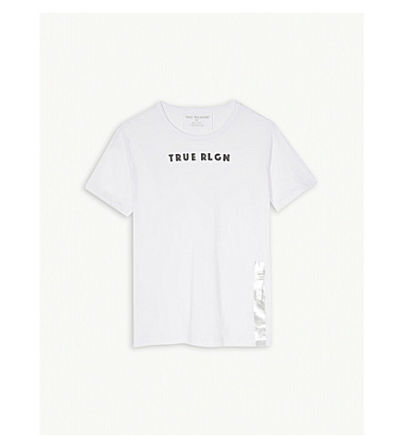 TRUE RELIGION Logo-print cotton T-shirt (White