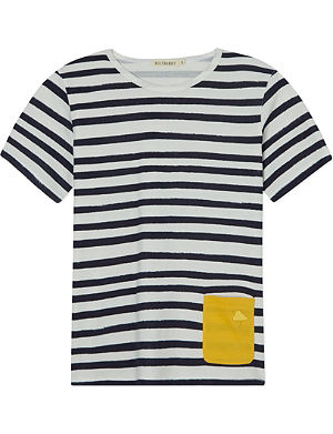 BILLY BANDIT Pocket detail striped cotton t-shirt 3-12 years