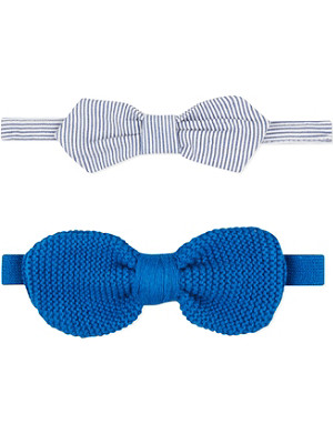 BILLY BANDIT Striped and knitted bow tie set