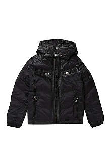 DIESEL Classic hooded puffa jacket 4-16 years